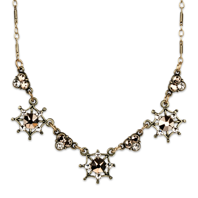 Three Twinkling Stars Necklace | Anne Koplik Designs Jewelry | Handmade in America with Crystals from Swarovski®