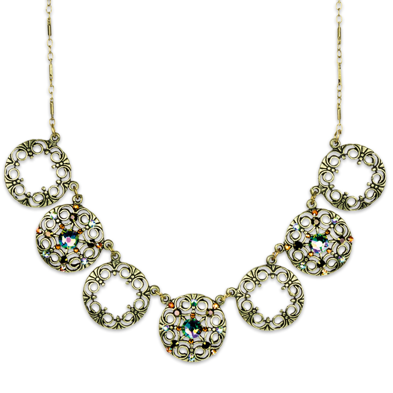 Swarovski® Crystal Circles Necklace | Anne Koplik Designs Jewelry | Handmade in America with Crystals from Swarovski®