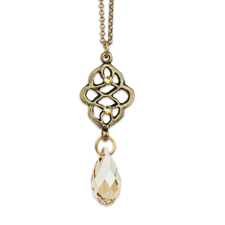 Abstract Drop Pendant   Anne Koplik Designs Jewelry   Handmade in America with Crystals from Swarovski®