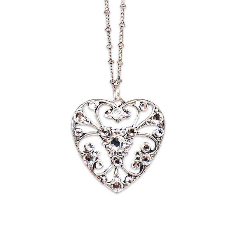 Crystal Love Swarovski® Heart Necklace | Anne Koplik Designs Jewelry | Handmade in America with Crystals from Swarovski®