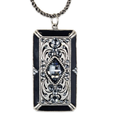 Egyptian-Deco Inspired Pendant | Anne Koplik Designs Jewelry | Handmade in America with Crystals from Swarovski®