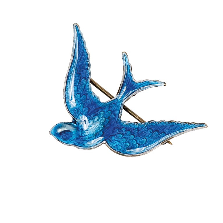 Something Blue Bird Pin | Anne Koplik Designs Jewelry | Handmade in America with Crystals from Swarovski®