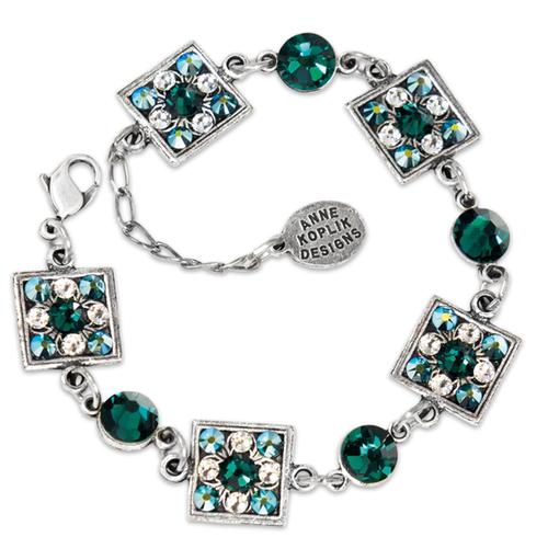 Opulent Emerald Bracelet | Anne Koplik Designs Jewelry | Handmade in America with Crystals from Swarovski®