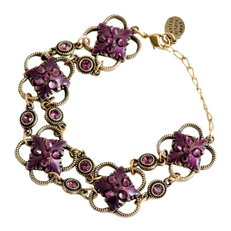 Amethyst Allure Bracelet | Anne Koplik Designs Jewelry | Handmade in America with Crystals from Swarovski®