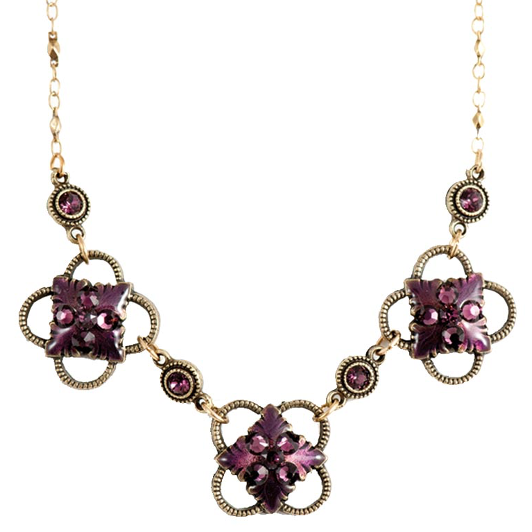 Amethyst Allure Necklace | Anne Koplik Designs Jewelry | Handmade in America with Crystals from Swarovski®