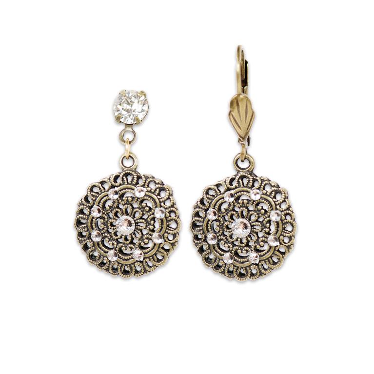 Classic Sophia Crystal Earrings | Anne Koplik Designs Jewelry | Handmade in America with Crystals from Swarovski®