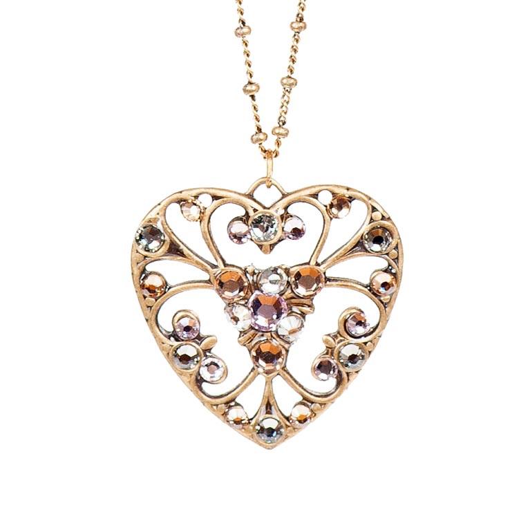 Summer Breeze Heart Pendant | Anne Koplik Designs Jewelry | Handmade in America with Crystals from Swarovski®