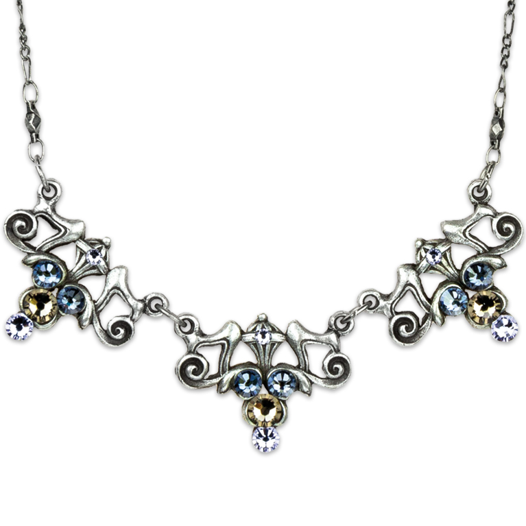Art Nouveau Quiet Beauty Necklace | Anne Koplik Designs Jewelry | Handmade in America with Crystals from Swarovski®