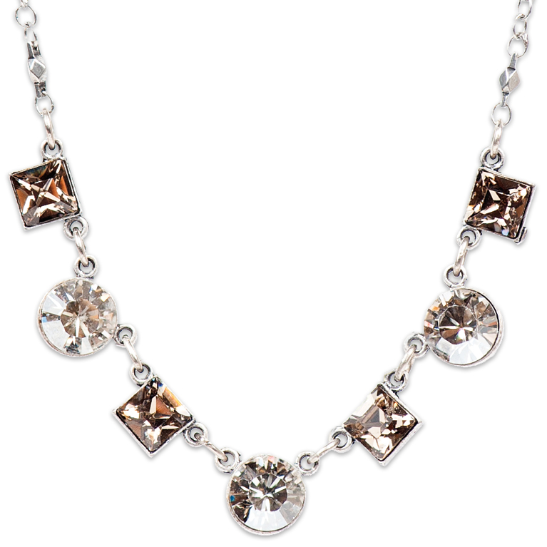 Greige And Silver Shadow Necklace | Anne Koplik Designs Jewelry | Handmade in America with Crystals from Swarovski®