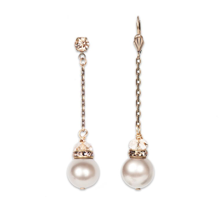 Hint of Present and Future Earrings | Anne Koplik Designs Jewelry | Handmade in America with Crystals from Swarovski®