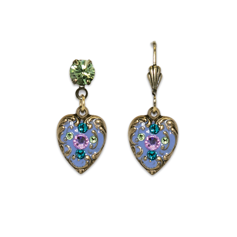 My Heart To Your Heart Earrings | Anne Koplik Designs Jewelry | Handmade in America with Crystals from Swarovski®