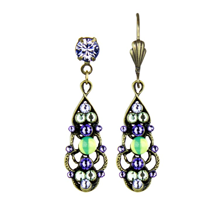 Ophelia Posh Earrings | Anne Koplik Designs Jewelry | Handmade in America with Crystals from Swarovski®