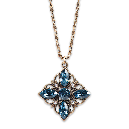 Blue Calla Necklace | Anne Koplik Designs Jewelry | Handmade in America with Crystals from Swarovski®