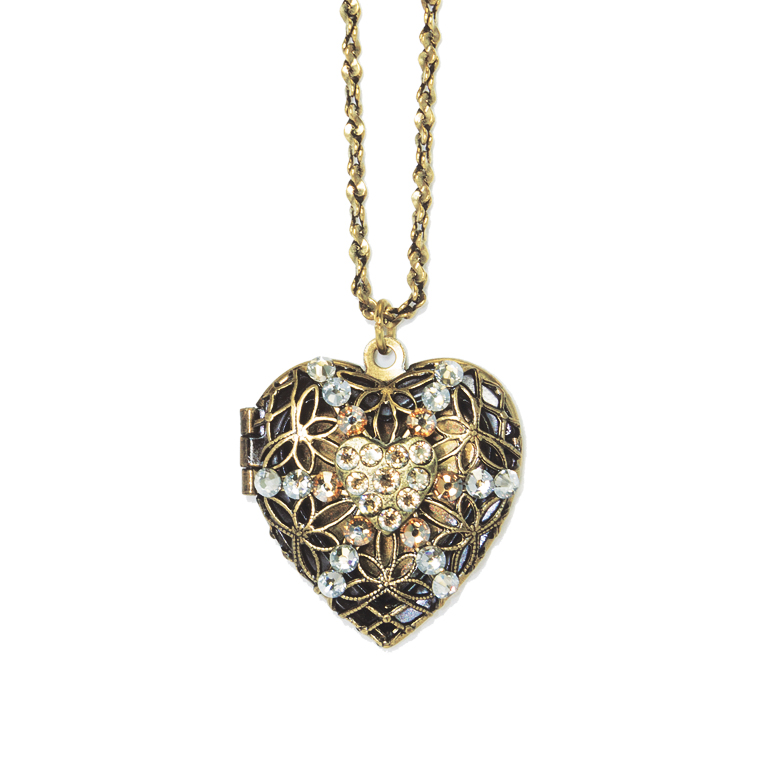 Aurora Heart Locket | Anne Koplik Designs Jewelry | Handmade in America with Crystals from Swarovski®