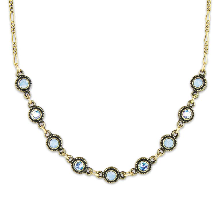Heavenly Blue Paris Necklace | Anne Koplik Designs Jewelry | Handmade in America with Crystals from Swarovski®