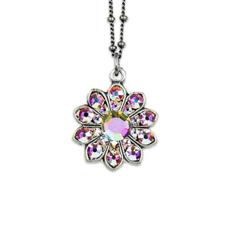 Northern Lights Iris Pendant | Anne Koplik Designs Jewelry | Handmade in America with Crystals from Swarovski®