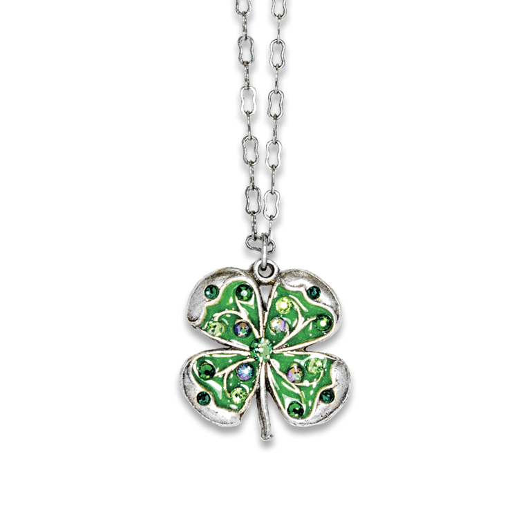 Swarovski® Four Leaf Clover Necklace | Anne Koplik Designs Jewelry | Handmade in America with Crystals from Swarovski®