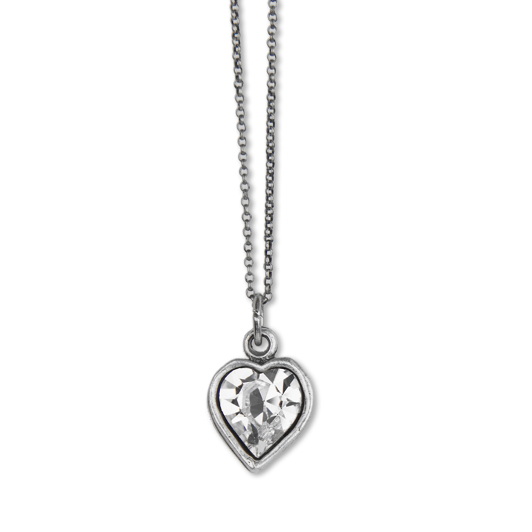 Olivia Swarovski® Crystal Heart Necklace | Anne Koplik Designs Jewelry | Handmade in America with Crystals from Swarovski®