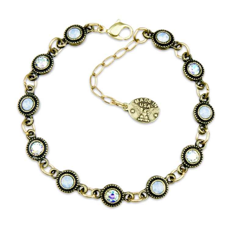 Heavenly Blue Paris Bracelet | Anne Koplik Designs Jewelry | Handmade in America with Crystals from Swarovski®