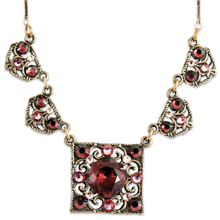 Rowan Burgundy Necklace | Anne Koplik Designs Jewelry | Handmade in America with Crystals from Swarovski®