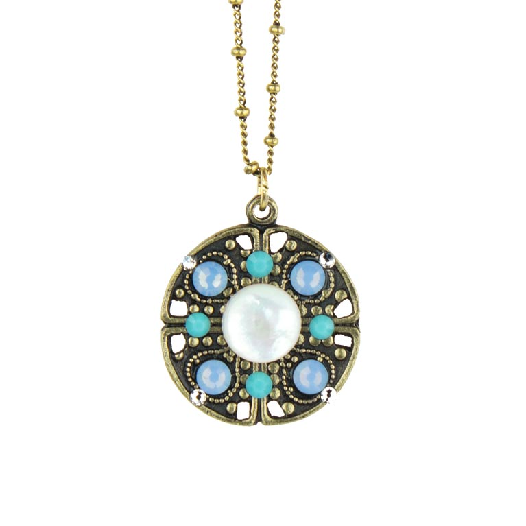 Heavenly Blue Lenora Necklace | Anne Koplik Designs Jewelry | Handmade in America with Crystals from Swarovski®