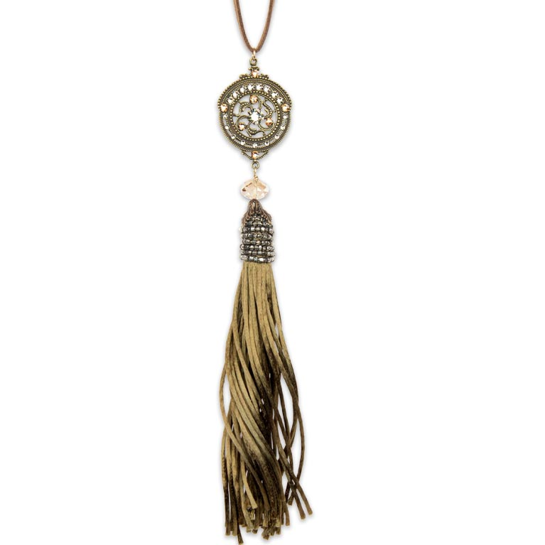 Lana Tassel Necklace | Anne Koplik Designs Jewelry | Handmade in America with Crystals from Swarovski®