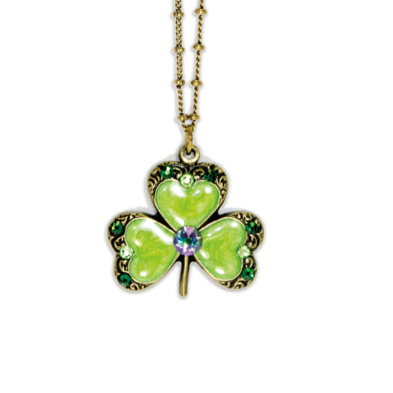 Swarovski® Shamrock Necklace | Anne Koplik Designs Jewelry | Handmade in America with Crystals from Swarovski®