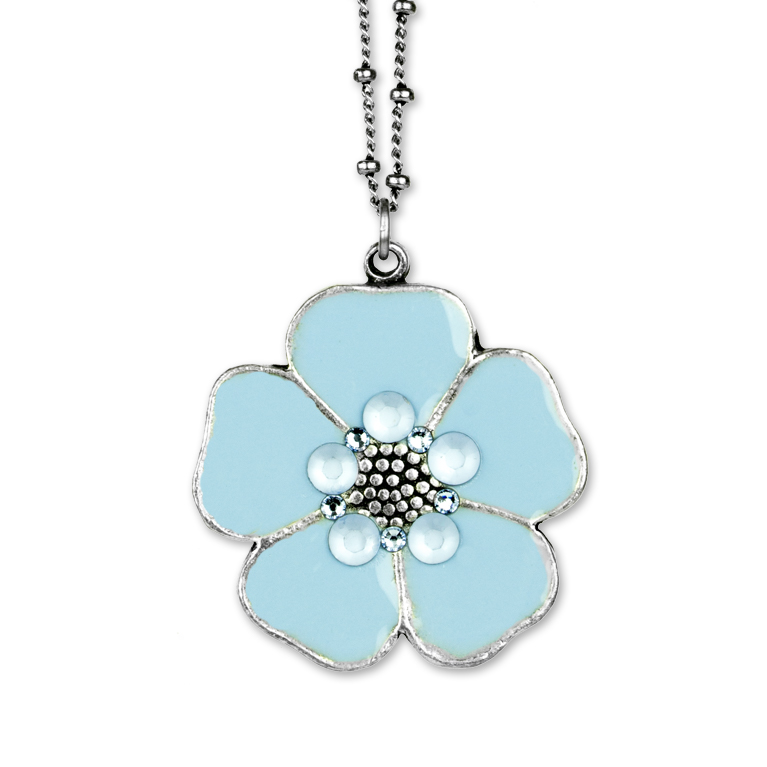 Adelyn Flower Pendant | Anne Koplik Designs Jewelry | Handmade in America with Crystals from Swarovski®
