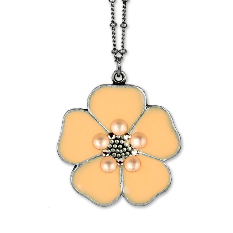 Piper Flower Pendant | Anne Koplik Designs Jewelry | Handmade in America with Crystals from Swarovski®