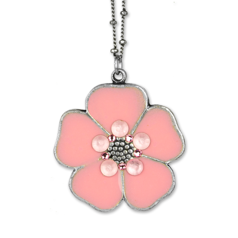 Jordyn Flower Pendant | Anne Koplik Designs Jewelry | Handmade in America with Crystals from Swarovski®