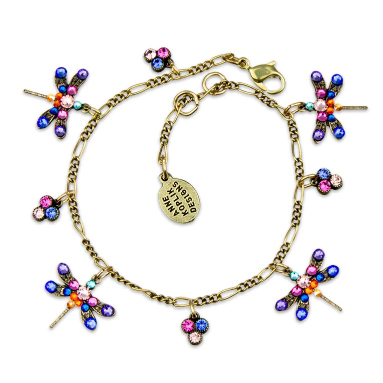Farrah Enchanted Dragonfly Bracelet | Anne Koplik Designs Jewelry | Handmade in America with Crystals from Swarovski®
