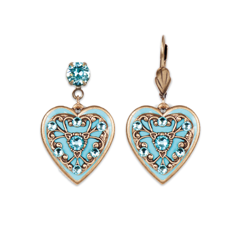 Brinley Heart Earrings | Anne Koplik Designs Jewelry | Handmade in America with Crystals from Swarovski®