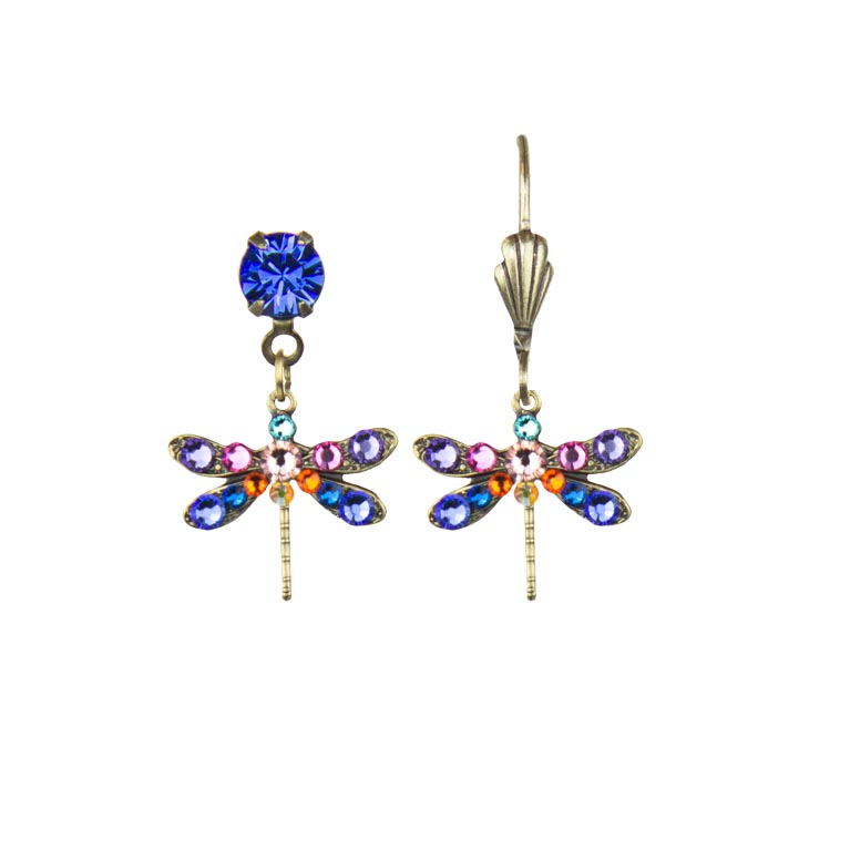 Farrah Enchanted Dragonfly Earrings | Anne Koplik Designs Jewelry | Handmade in America with Crystals from Swarovski®