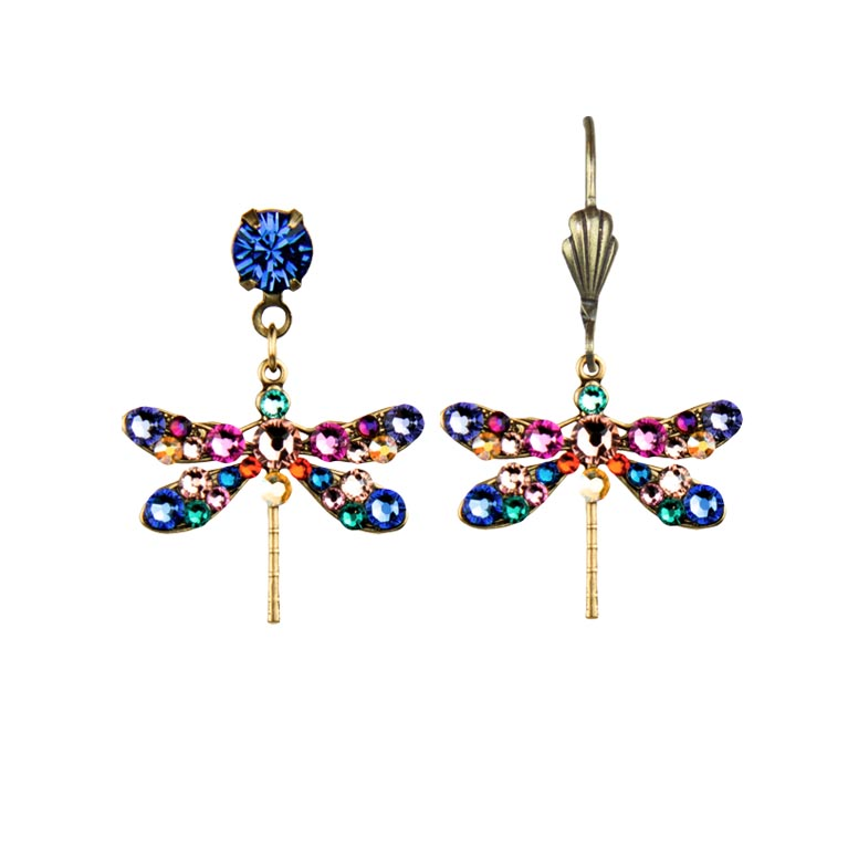 Davina Enchanted Dragonfly Earrings | Anne Koplik Designs Jewelry | Handmade in America with Crystals from Swarovski®