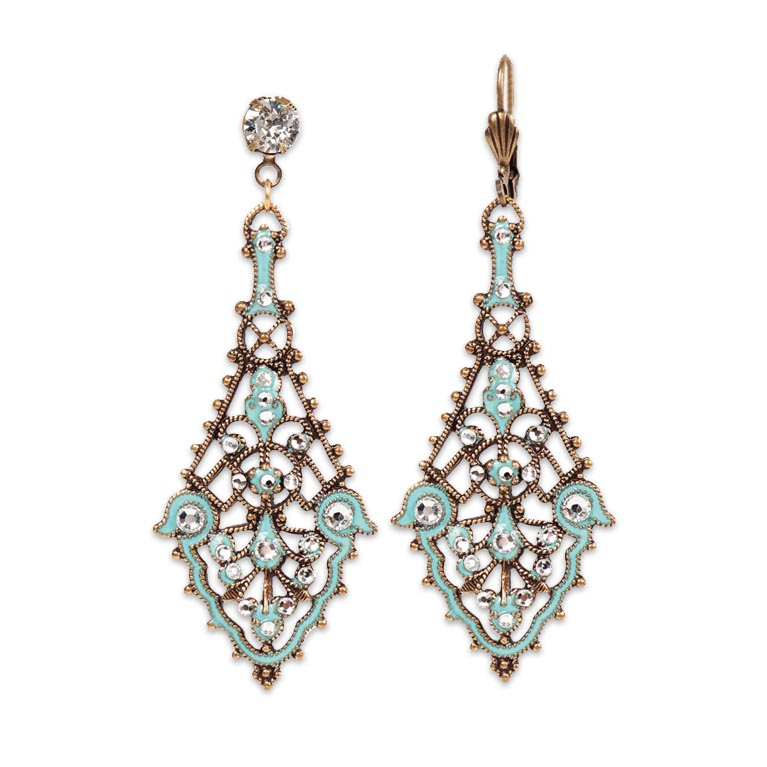 Maybelle Southwest Horizon Earrings | Anne Koplik Designs Jewelry | Handmade in America with Crystals from Swarovski®