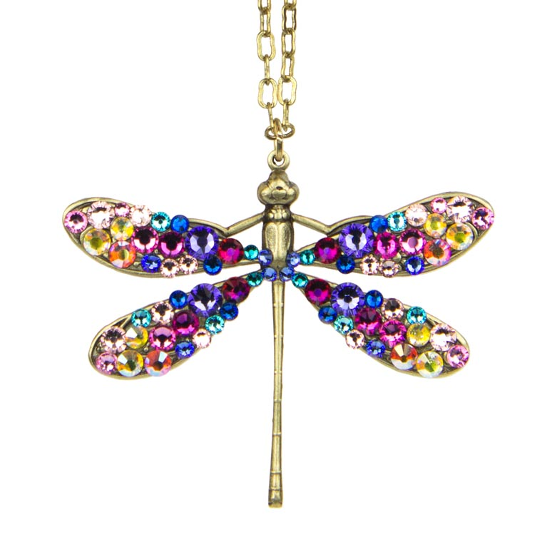 Davina Enchanted Dragonfly Pendant | Anne Koplik Designs Jewelry | Handmade in America with Crystals from Swarovski®