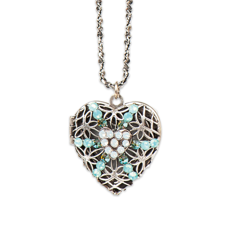 Annalise Opal Heart Locket | Anne Koplik Designs Jewelry | Handmade in America with Crystals from Swarovski®