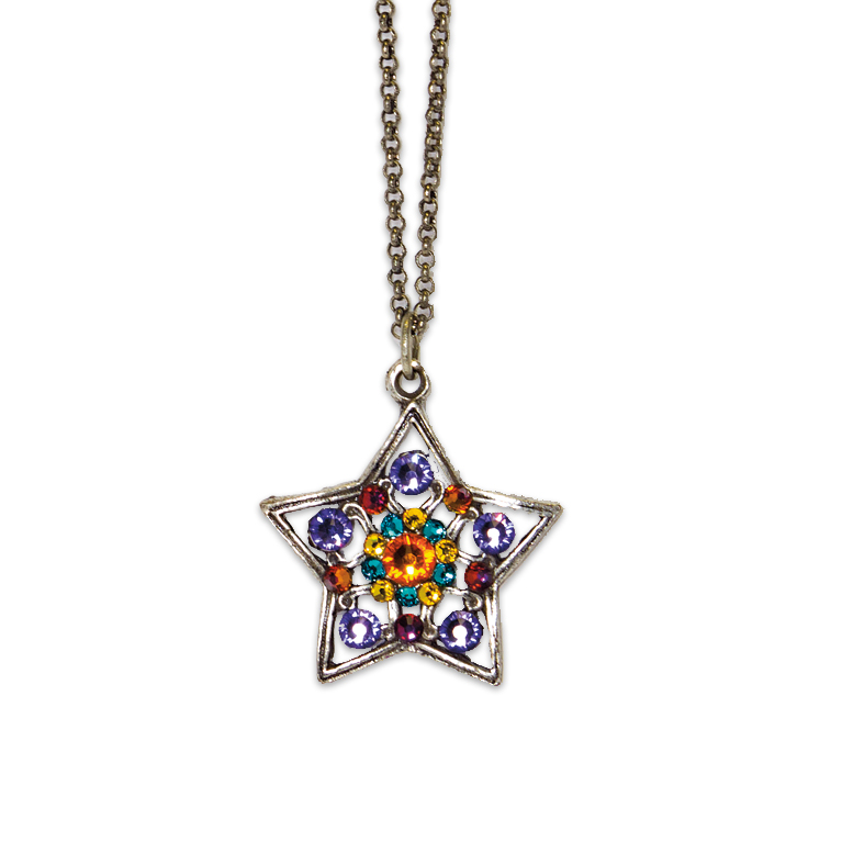 Astra Shining Star Necklace | Anne Koplik Designs Jewelry | Handmade in America with Crystals from Swarovski®