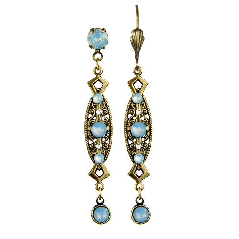 Air Blue Janelle Earrings | Anne Koplik Designs Jewelry | Handmade in America with Crystals from Swarovski®