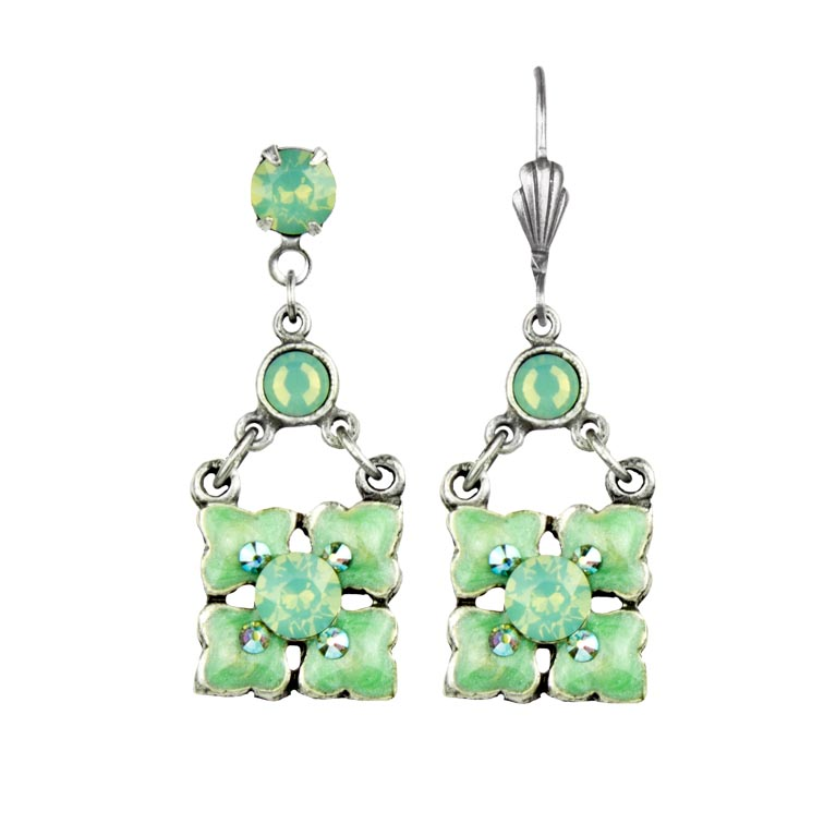 Serena Mint Earrings | Anne Koplik Designs Jewelry | Handmade in America with Crystals from Swarovski®
