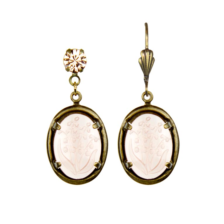 Ayla Classic Rose Earrings | Anne Koplik Designs Jewelry | Handmade in America with Crystals from Swarovski®