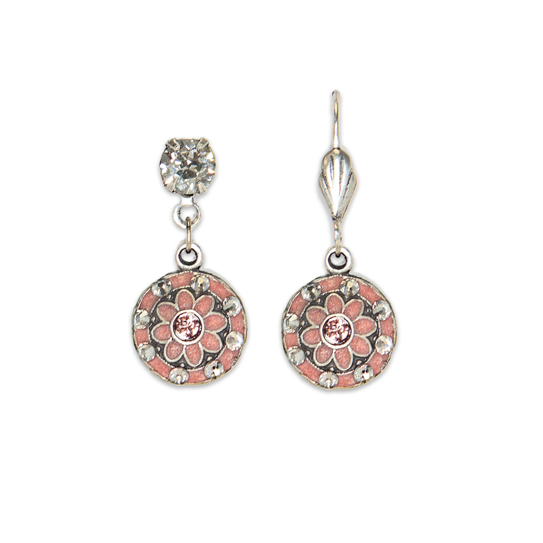 Pia Classic Rose Earrings | Anne Koplik Designs Jewelry | Handmade in America with Crystals from Swarovski®