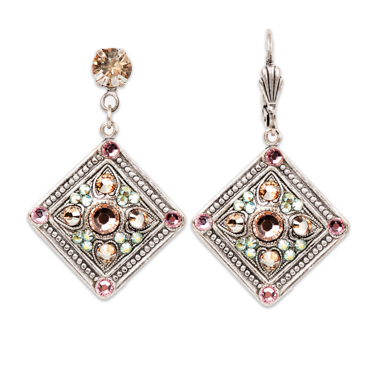 Mila Classic Rose Earrings | Anne Koplik Designs Jewelry | Handmade in America with Crystals from Swarovski®