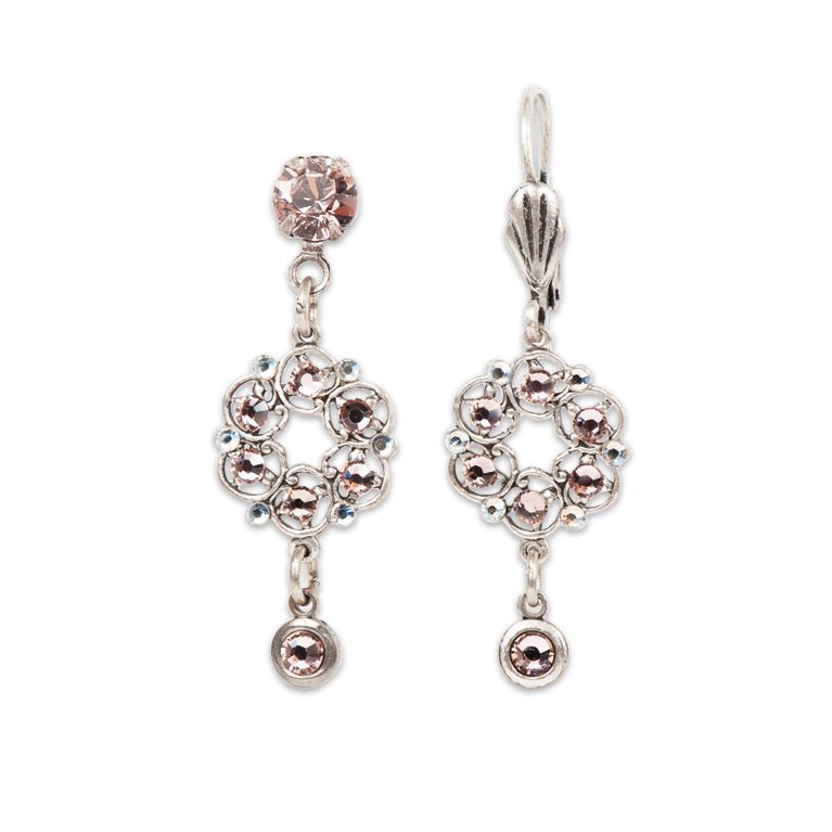Alessia Classic Rose Earrings | Anne Koplik Designs Jewelry | Handmade in America with Crystals from Swarovski®