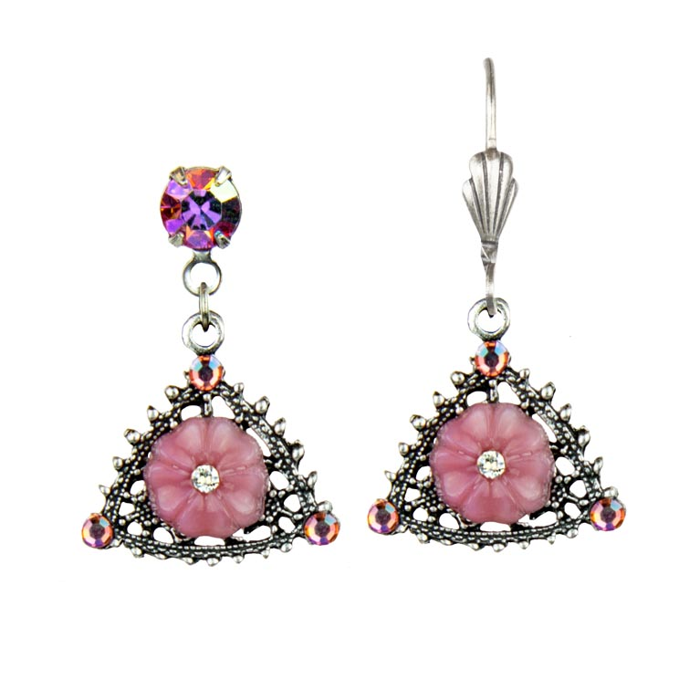 Classic Rose Earrings | Anne Koplik Designs Jewelry | Handmade in America with Crystals from Swarovski®