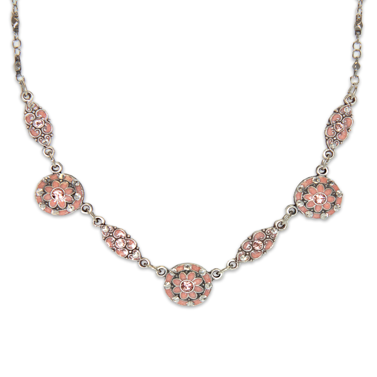 Pia Classic Rose Necklace | Anne Koplik Designs Jewelry | Handmade in America with Crystals from Swarovski®