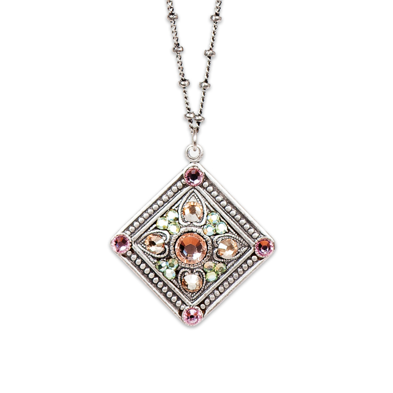 Mila Classic Rose Necklace | Anne Koplik Designs Jewelry | Handmade in America with Crystals from Swarovski®