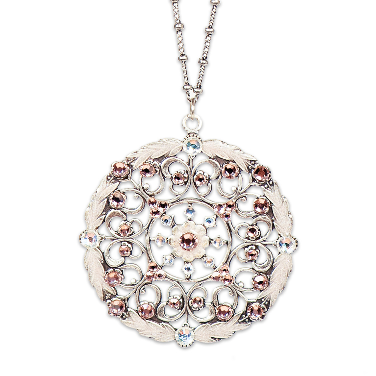 Alessia Classic Rose Necklace | Anne Koplik Designs Jewelry | Handmade in America with Crystals from Swarovski®