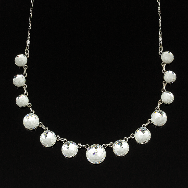 Natalia Crystal Necklace | Anne Koplik Designs Jewelry | Handmade in America with Crystals from Swarovski®