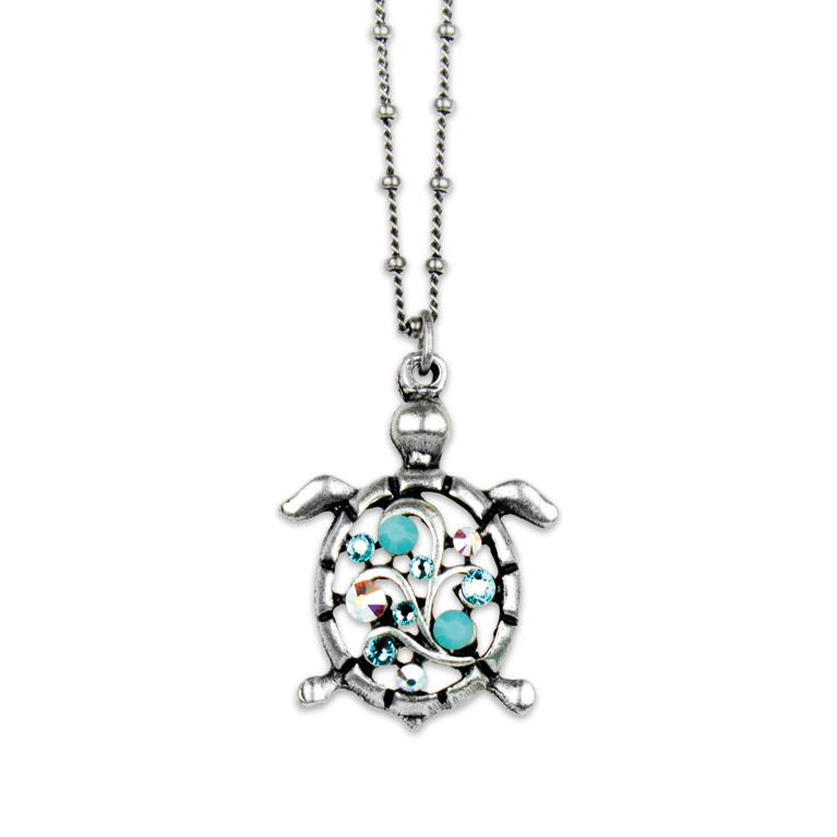 Coco Turtle Necklace | Anne Koplik Designs Jewelry | Handmade in America with Crystals from Swarovski®